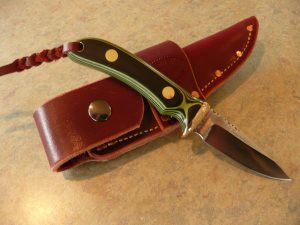 Small Hunter with Black and Green G-10 Handle